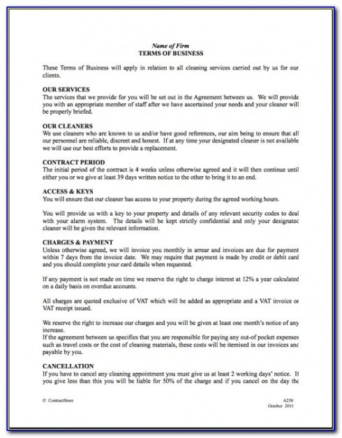 Free Vending Machine Contract Template Doc