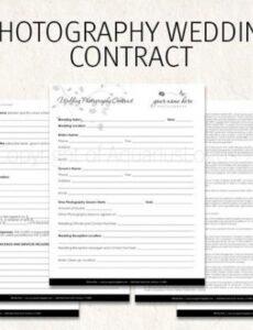 Free Wedding Florist Contract Template Pdf