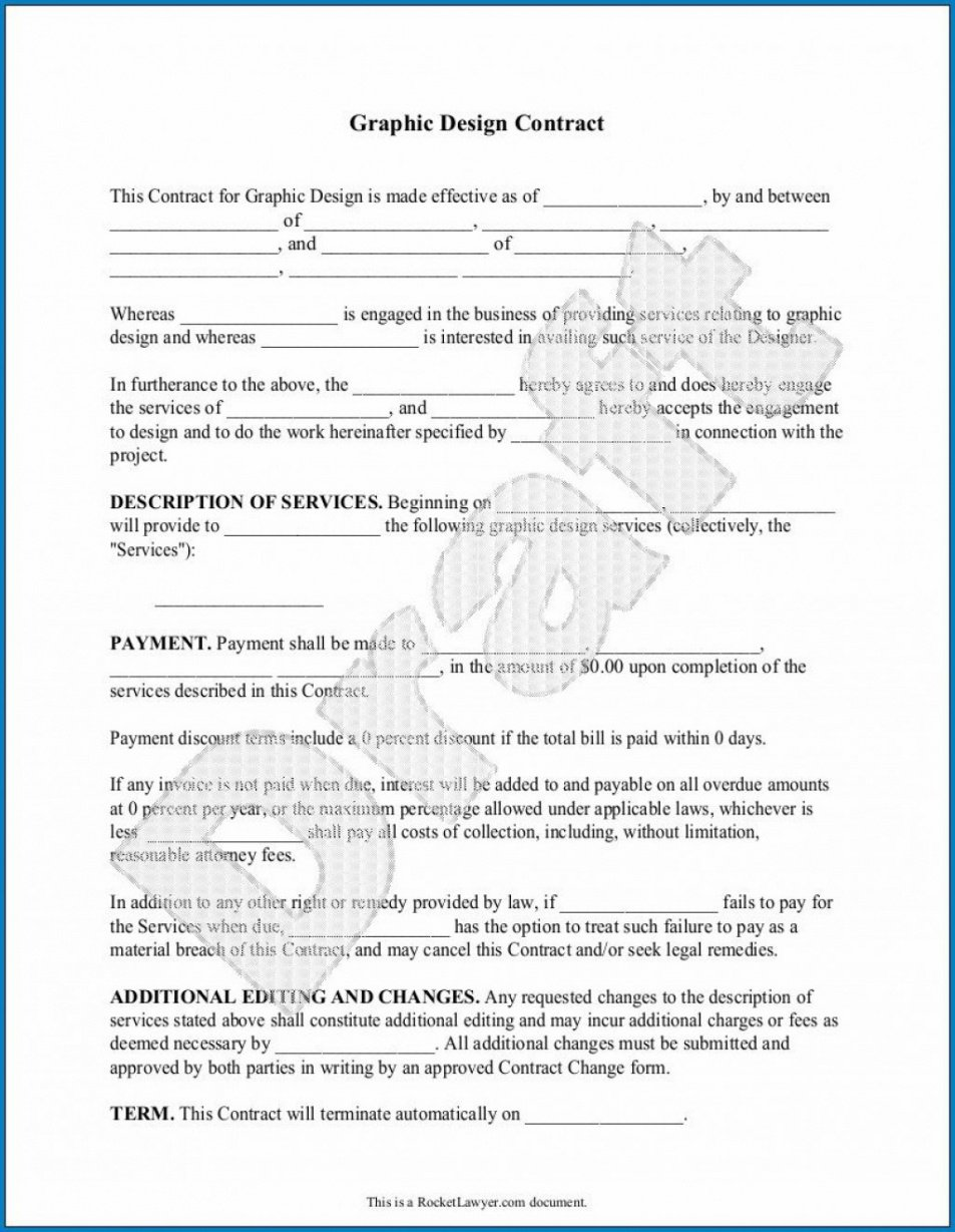 Freelance Graphic Design Contract Template Excel Sample