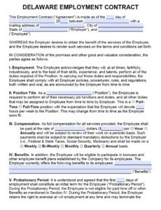 Printable Employee Salary Contract Template Doc Sample