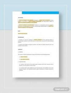 Printable Freelance Marketing Contract Template  Sample