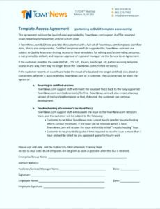 Printable General Contract For Services Template Excel Example
