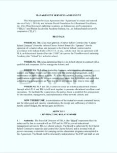 Printable General Contract For Services Template  Sample