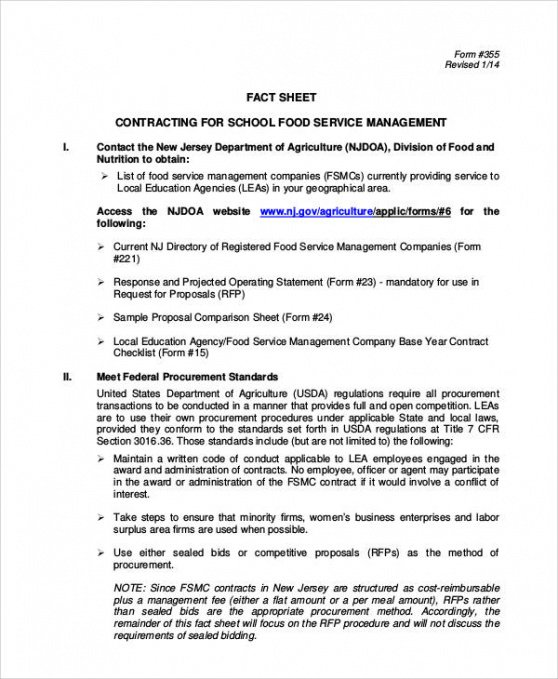 Professional Food Catering Contract Template Word