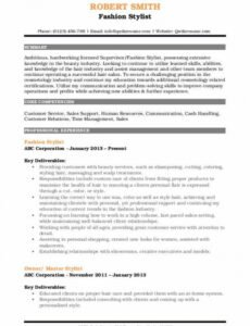 Professional Freelance Hair Stylist Contract Template Pdf Example
