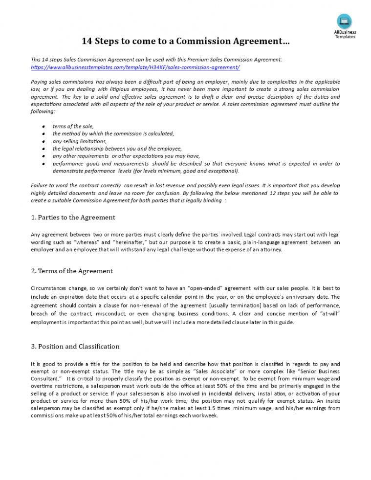 Professional Legally Binding Contract Template  Sample