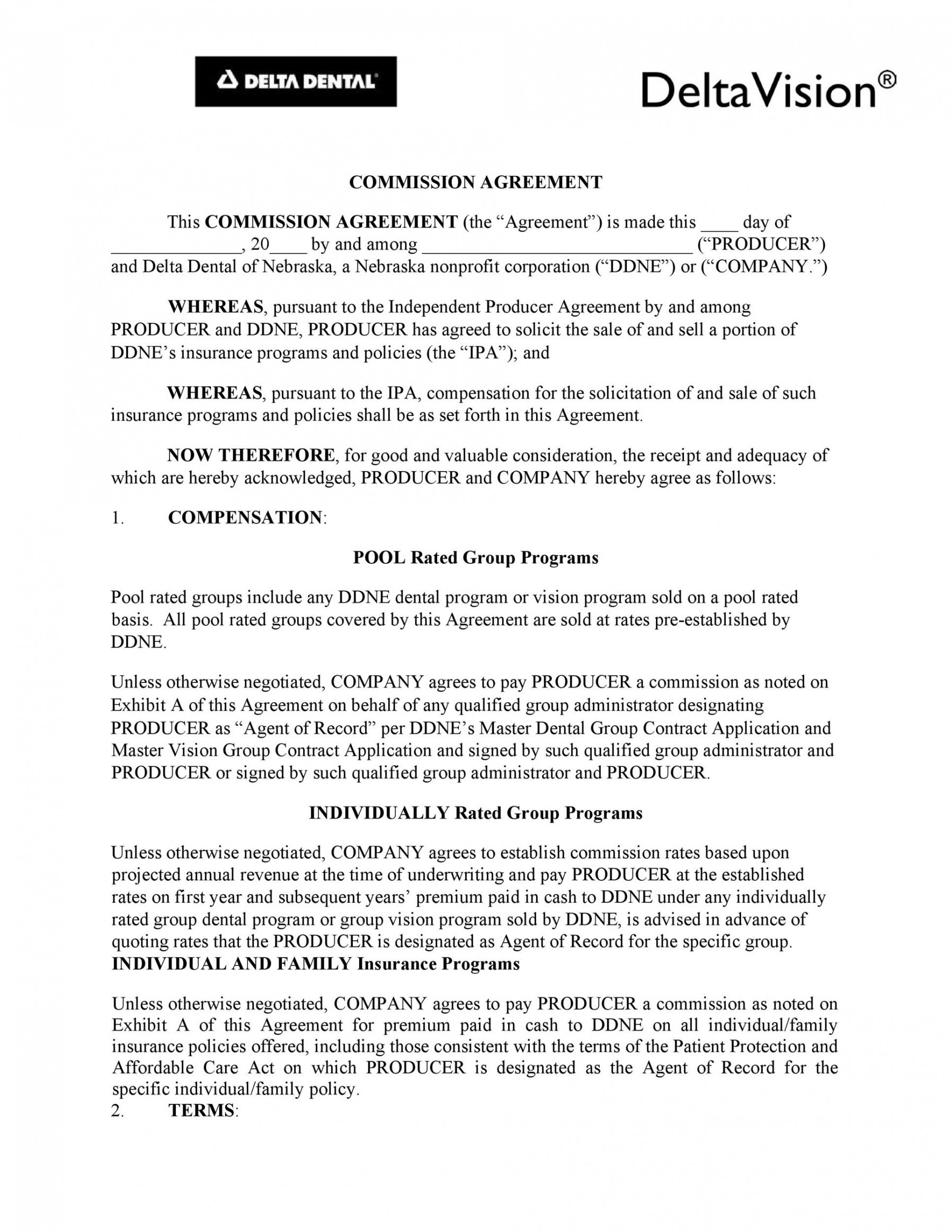 Sales Commission Contract Template Doc