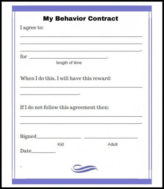 Best Patient Behavior Contract Template Excel Example