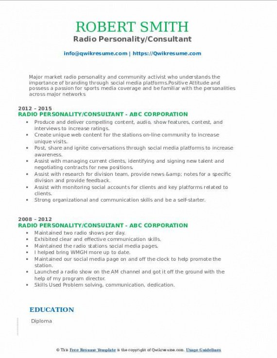 Best Radio Station Contract Template Doc Sample