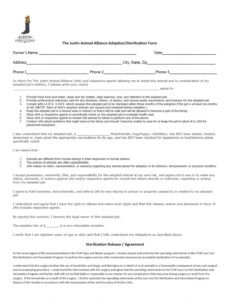 Best Spay And Neuter Contract Template Pdf Example