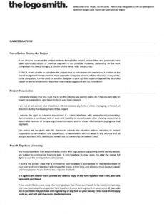 Costum Freelance Logo Design Contract Template Doc Example