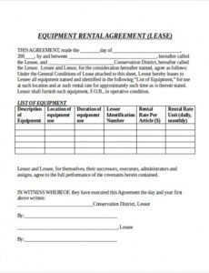 Costum Monthly Parking Contract Template Doc