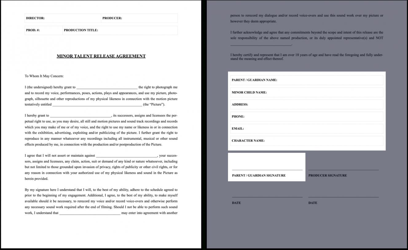 Editable Film Crew Contract Template Pdf