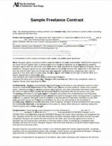 Editable Freelance Logo Design Contract Template