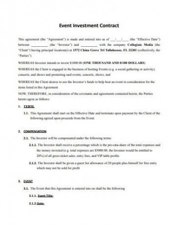 Free Guaranteed Investment Contract Template Word Sample