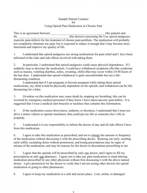 Free Patient Behavior Contract Template Excel Example