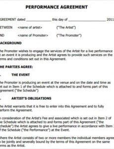 Free Promoter Venue Contract Template Pdf