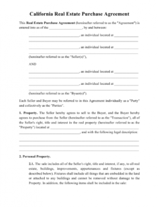 Professional House Purchase Contract Template Pdf Example
