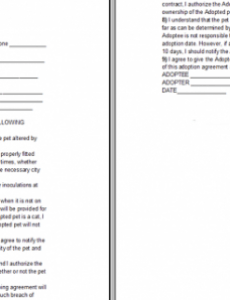 Professional Spay And Neuter Contract Template Excel Example