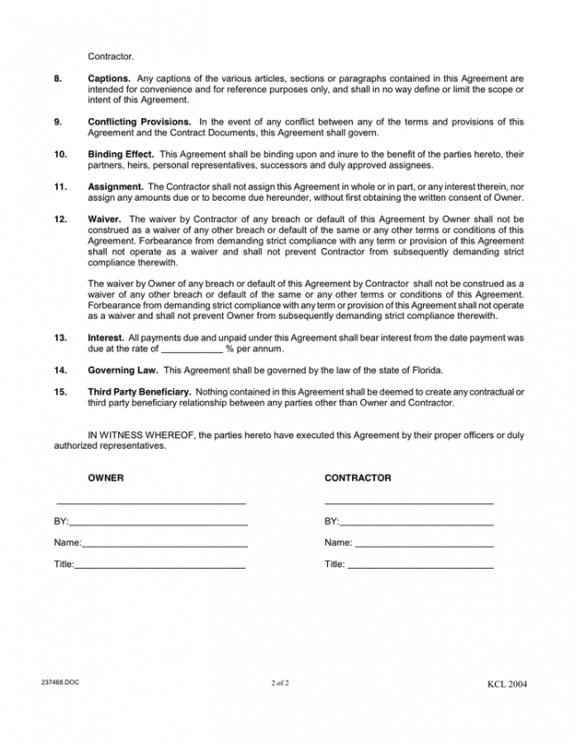 Commercial Roofing Contract Template Excel Sample