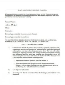 Costum Commercial Roofing Contract Template  Example