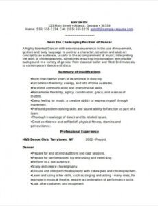 Free Choreographer Contract Template Pdf Example