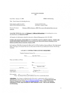 Free Commercial Roofing Contract Template Excel Sample