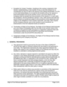 Free First Right Of Refusal Contract Template Word Example