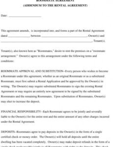 Best College Roommate Contract Template Doc
