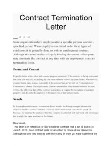 Best Dissolution Of Contract Template Word Sample