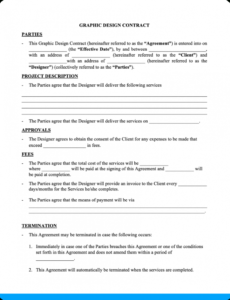 Best Graphic Artist Guild Contract Template Excel