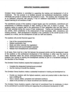 Best Personal Training Contract Agreement Template  Example