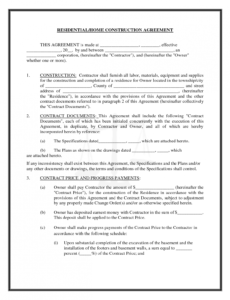 Free Framing Contract Template  Example