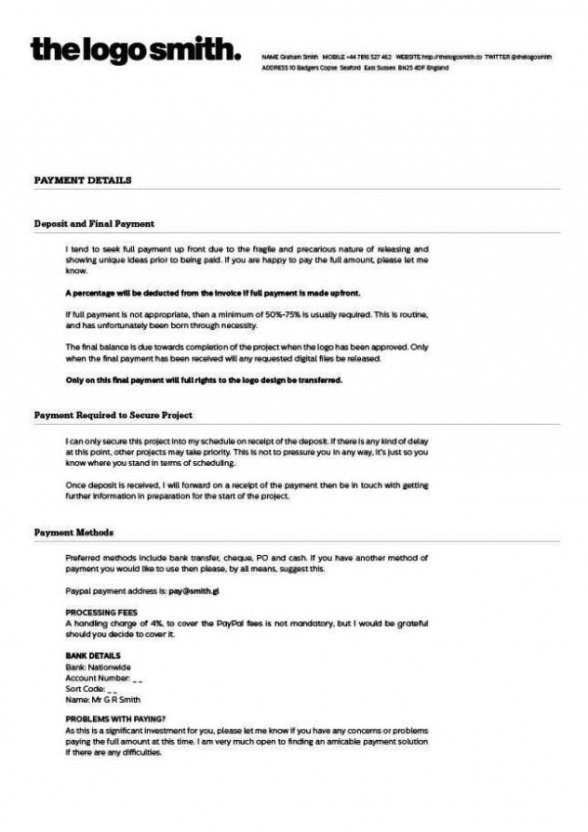 Free Graphic Artist Guild Contract Template Pdf Sample
