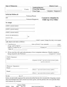 Printable Adoption Contract Template Pdf Sample