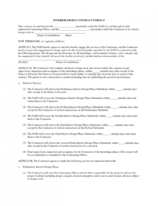 Printable Graphic Artist Guild Contract Template Doc