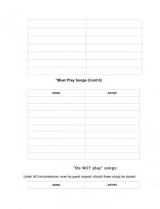 Printable Mobile Dj Contract Template  Sample