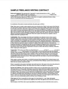 Professional Copywriting Contract Template  Sample