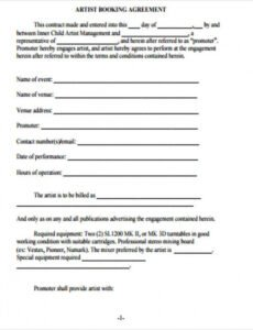 Professional Graphic Artist Guild Contract Template  Example