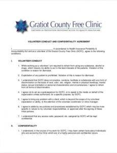 Professional Non Profit Employment Contract Template Pdf