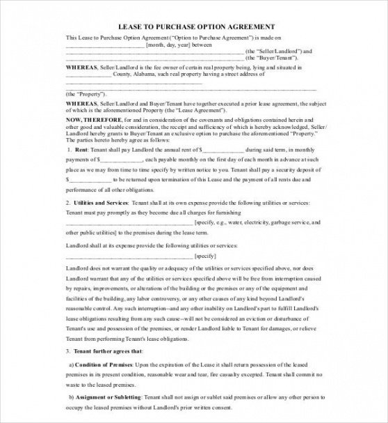 Professional Real Estate Option Contract Template Pdf