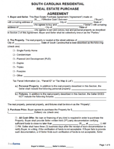 Real Estate Option Contract Template Excel Sample
