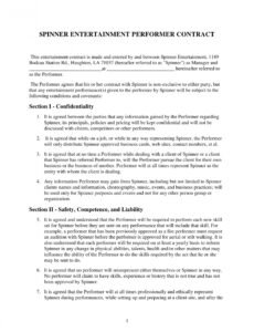 Best Contract Paper Template Word Sample