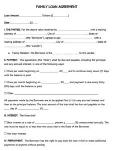 Best Loan Agreement Contract Template
