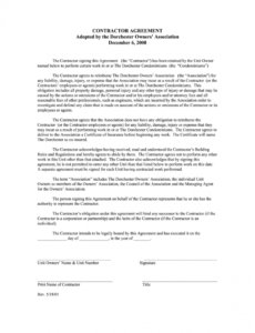 Costum Fillable Contract Template Doc Sample