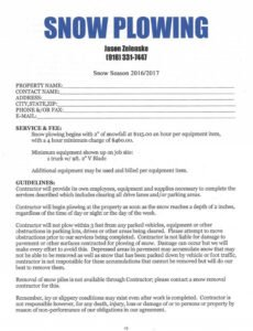 Editable Bid Contract Template