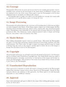 Editable Contract Paper Template Word Example