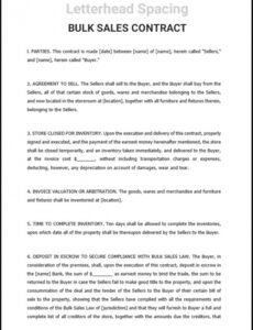 Editable Wholesale Purchase Agreement Contract Template Word