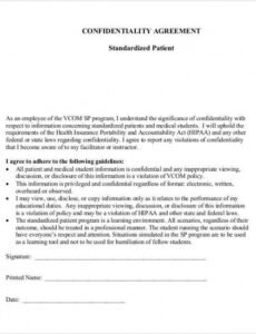 Free Doctor Patient Contract Template Doc Example