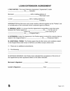 Free Loan Agreement Contract Template Excel Sample
